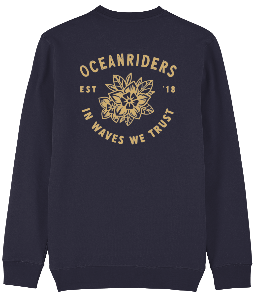 In Waves We Trust - Aloha Spirit Design - Organic Men's Sweatshirt