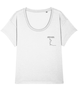 "Loose-fit Organic Women's Tee ""Surfeuse un jour, surfeuse toujours"" Limited Edition"