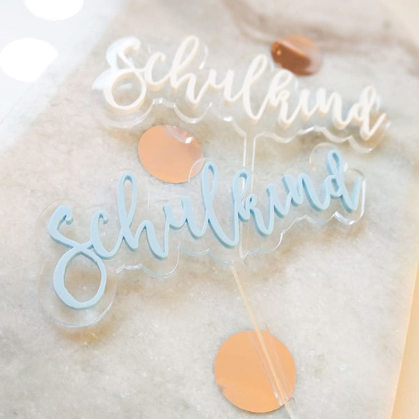 "Cake Topper ""Schulkind"""