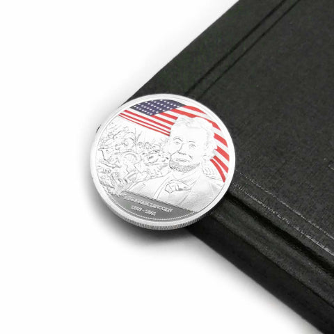 Abraham Lincoln Commemorative Coin Silver Plated