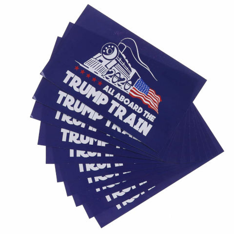 All Aboard The Train Bumper Sticker - 10 Pack