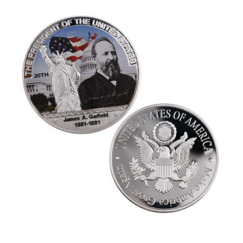 Image of Commemorative James A. Garfield Silver & Colored Coin
