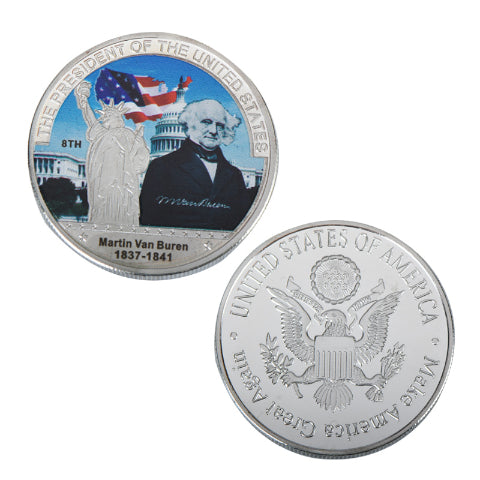 Commemorative Martin Van Buren Silver & Colored Coin