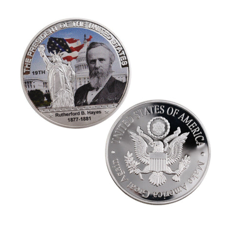 Commemorative Rutherford B. Hayes Silver & Colored Coin