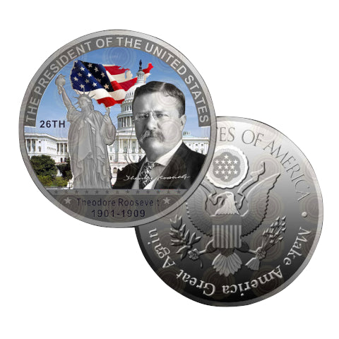 Commemorative Theodore Roosevelt Silver & Colored Coin