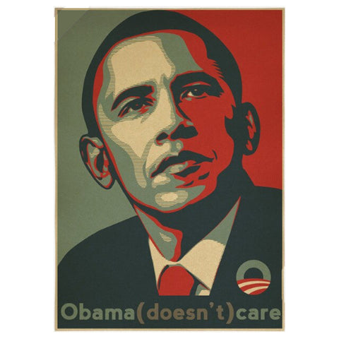 Obama Doesn't Care Poster