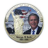 Commemorative George W. Bush Silver & Colored Coin