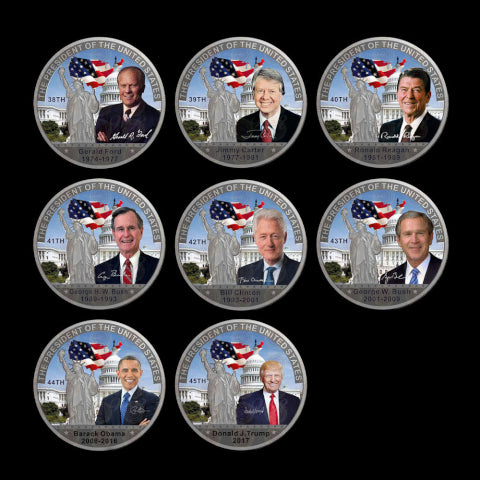 Complete 46 Coin Presidential Color Coin Collectors Set