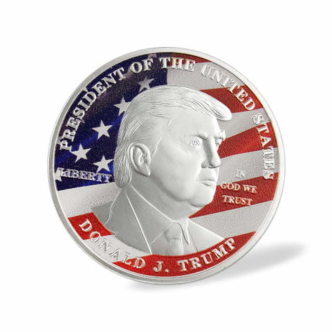 Image of Silver/Color Donald Trump Commemorative Coin