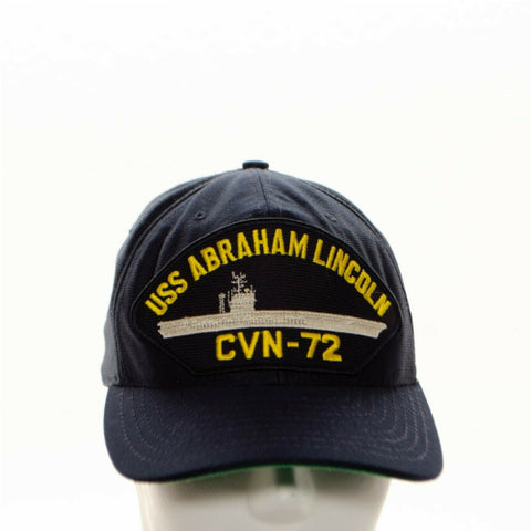 Image of USS Abraham Lincoln CVN-72 Naval Ship Snapback Baseball Cap Hat
