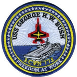 USS GEORGE H.W. BUSH CVN 77 Tactical Patch