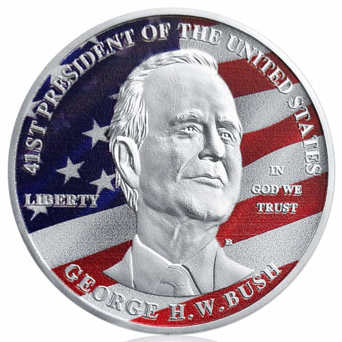 Image of Americana Commemorative George H.W. Bush Collectible Coin