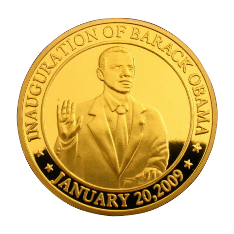 Image of Gold Plated Obama Coin