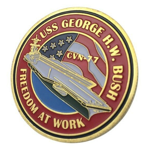 Image of U.S. Navy USS George H.W. Bush coin