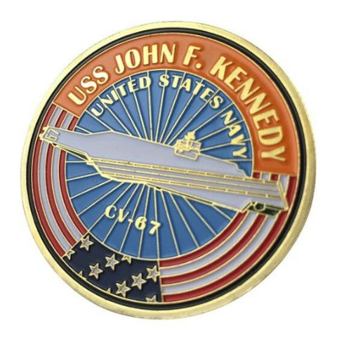 Image of U.S. Navy USS John F. Kennedy Coin
