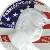 Silver/Color Donald Trump Commemorative Coin