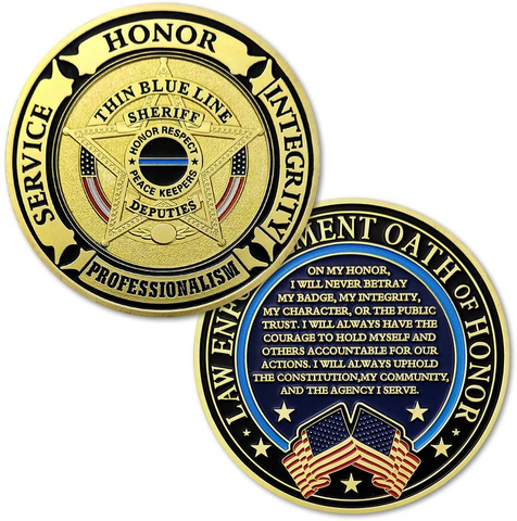 Police Prayer Challenge Coin