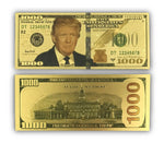 Gold Donald Trump $1000 Bills