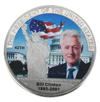 Commemorative Bill Clinton Silver & Colored Coin