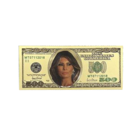 4 Commemorative Melania Trump Gold $500 Bills