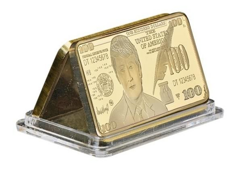 Collectible Golden Trump Bar