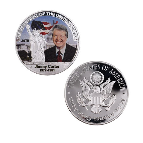 Commemorative Jimmy Carter Silver & Colored Coin