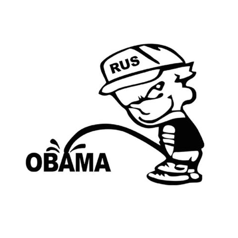 Obama Waterfall Sticker