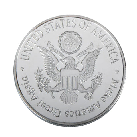 Image of Ronald Reagan Silver Plated Metal Coin