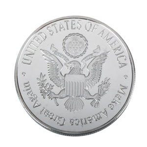 Ronald Reagan Silver Plated Metal Coin