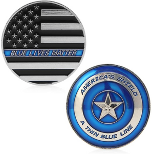 """Thin Blue Line"" Commemorative Coin"