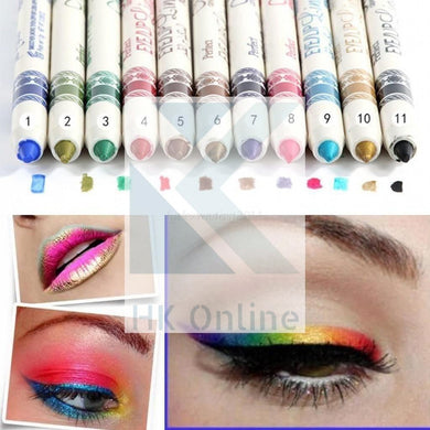 12 Pcs Professional SHIMMER EYELINER -Glitter Pencil Set, Cosmetic Lip Liner