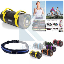 Load image into Gallery viewer, 15KG PVC WEIGHTED BAG -Weight Lifting, Squats, Lunges, Rows & Twin Zipped GYM Belt