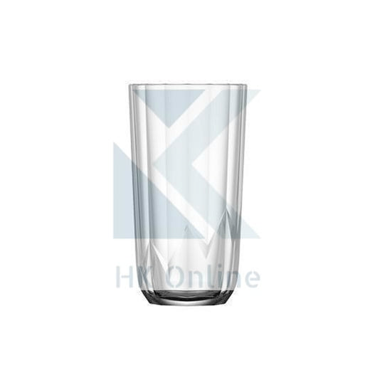 Pack 3 Tall Bevelled DRINKING GLASSES -11oz, Unique Highball, Soda & Lime Glassware