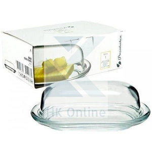 Deluxe Glass BUTTER DISH -Dome Glass Lid