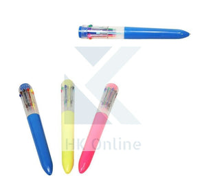 10 Colour Super RETRACTABLE BALLPOINT PEN -School, Party Bags