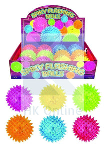 Flashing LED SPIKY BALL -Sensory Toy, Light & Sound, Fiddle, Fidget, Stress, Autism, ADHD