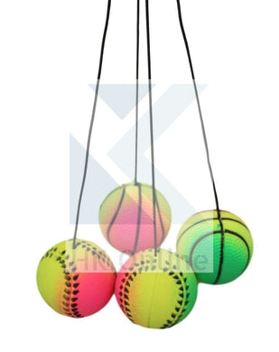 Rainbow High Bounce 'Ball on a String' -High Density, Stress Relief, Gift Bags