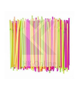 Pack 100 Flexible PLASTIC DRINKING STRAWS -Cocktail, Party, Celebrations