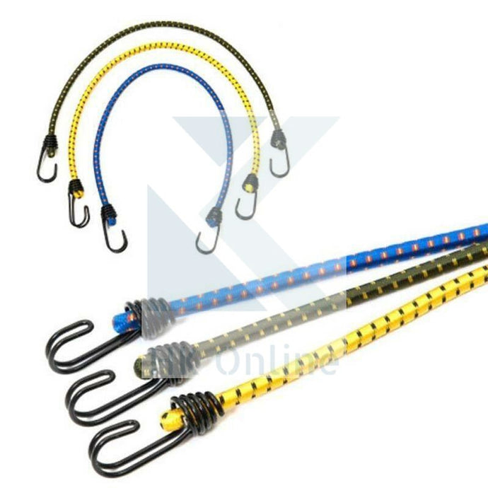 1.5 Metre BUNGEE Cords with Durable Hooks -LUGGAGE Straps, Secure Bicycle, Garden Furniture, Boat Trips,