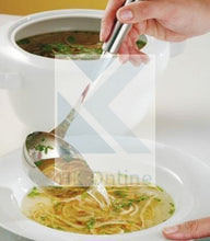 Load image into Gallery viewer, Long Handled STRAINER SPOON LADLE-Stainless Steel, Hanging Hook 35cm