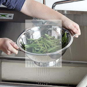 Twin Handled COLANDER -Stainless Steel Drainer, Pasta, Vegetables, Fruits 32cm