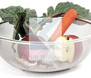28cm Stainless Steel Mesh Food STRAINER BASKET -Vegetables, Fruits, Noodles, Colander