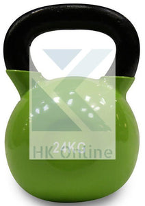 24kg Soft Touch Coated Cast Iron KETTLEBELL -Sumo Squats, Walking Lunges & Twin Zipped GYM Belt