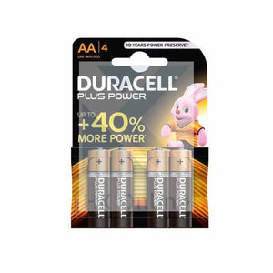Pack 4 DURACELL Plus Power AA BATTERIES -Toys, Remote Control, Camera