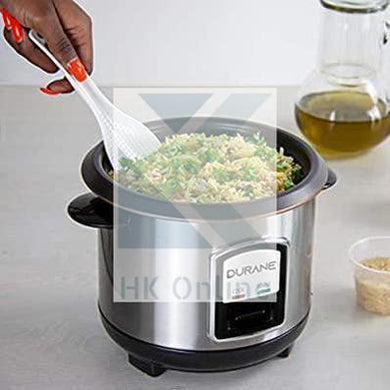 800ml Electric Rice Cooker -Removable Stockpot, Vented Glass Lid