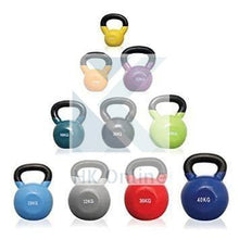 Load image into Gallery viewer, 6kg Soft Touch Vinyl Coated Cast Iron KETTLEBELL -Sumo Squats, Walking Lunges