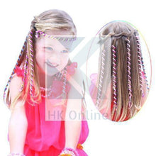 Load image into Gallery viewer, PK 6 Girls Spiral RAINBOW HAIR CURLERS -Hair Rollers with Gems, Hair Jewellery, Party, Bridesmaid