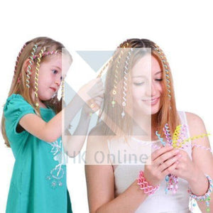 PK 6 Girls Spiral RAINBOW HAIR CURLERS -Hair Rollers with Gems, Hair Jewellery, Party, Bridesmaid