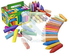 Load image into Gallery viewer, 48 CRAYOLA SIDEWALK CHALKS -Anti Roll, New Tropical Colours, Washable