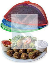 Load image into Gallery viewer, 35cm Large Round DOME PLATE COVER-Mesh FOOD COVER with Handle -Buffet, Meals Safe from Pests